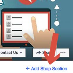 imagem de como adicionar seção loja no facebook